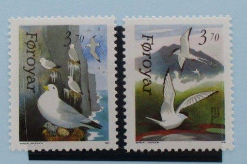 Faroe Islands Stamps, 1991, SG212-213, Mint 3