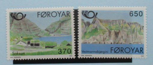 Faroe Islands Stamps, 1991, SG214-215, Mint 3
