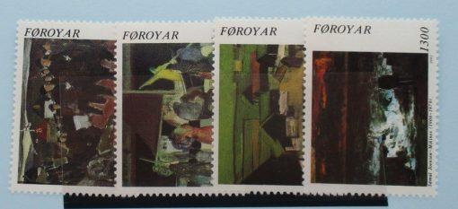 Faroe Islands Stamps, 1991, SG216-219, Mint 3
