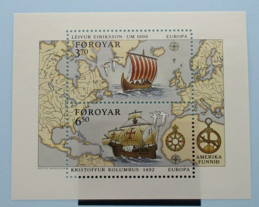 Faroe Islands Stamps, 1992, MS226, Mint 3