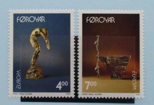 Faroe Islands Stamps, 1993, SG241-242, Mint 3
