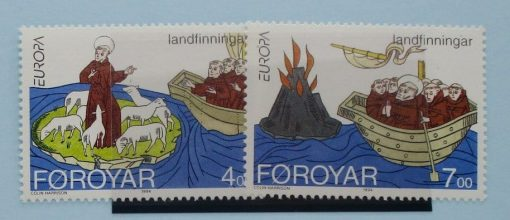 Faroe Islands Stamps, 1993, SG253-254, Mint 3