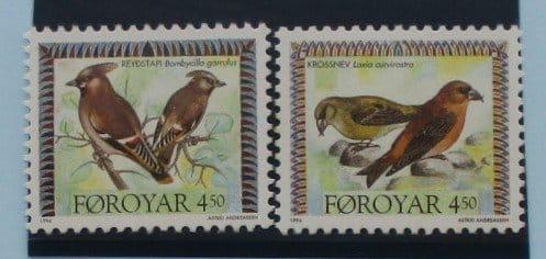 Faroe Islands Stamps, 1996, Birds, SG292-293, Mint 3
