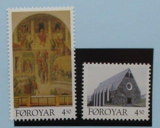 Faroe Islands Stamps, 1996, SG318-319, Mint 3