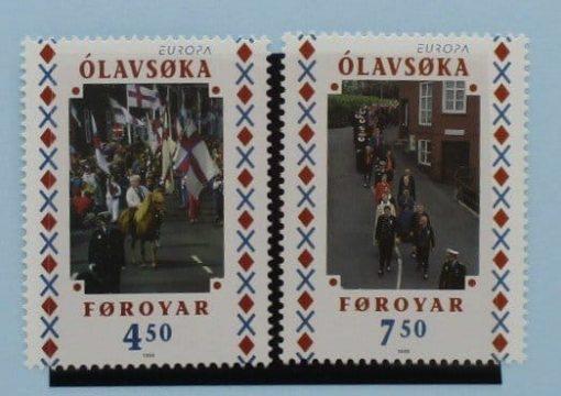 Faroe Islands Stamps, 1998, SG346-347, Mint 3