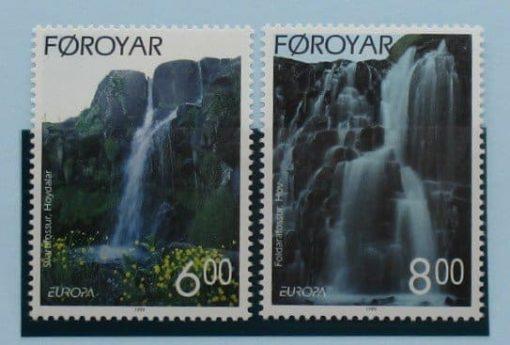 Faroe Islands Stamps, 1999, SG379-380, Mint 3