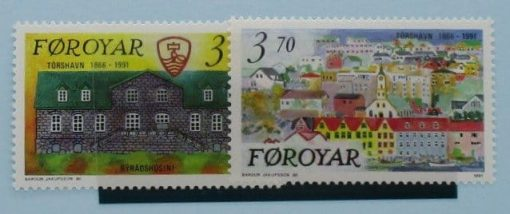 Faroe Islands Stamps, 1991, SG208-209, Mint 3