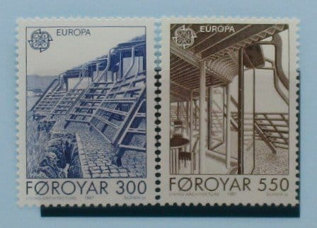 Faroe Islands Stamps, 1987, SG144-145, Mint 3
