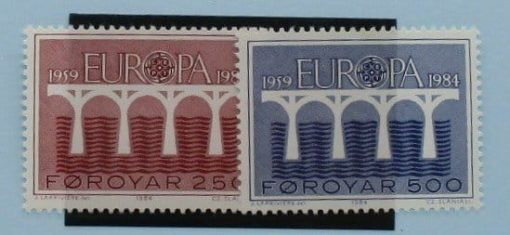 Faroe Islands Stamps, 1984, SG94-95, Mint 3