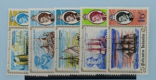 Pitcairn Islands Stamps, 1967, SG64-68, Mint 3