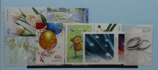 Australia Stamps, 2010, SG3449-3458, Mint 3