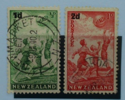 New Zealand Stamps, 1939, SG611-612, Used 3