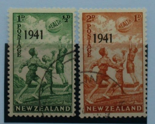 New Zealand Stamps, 1941, SG632-633, Used 3