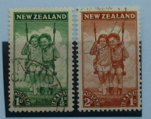 New Zealand Stamps, 1942, SG634-635, Used 3