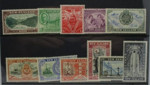 New Zealand Stamps, 1946, SG667-677, Mint 3