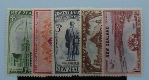 New Zealand Stamps, 1950, SG703-707, Mint 3