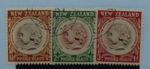 New Zealand Stamps, 1955, SG742-744, Used 3