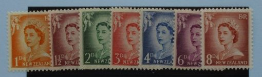 New Zealand Stamps, 1955-59, SG745-751, Mint 3