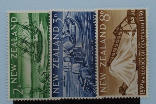 New Zealand Stamps, 1959, SG772-774, Mint 3