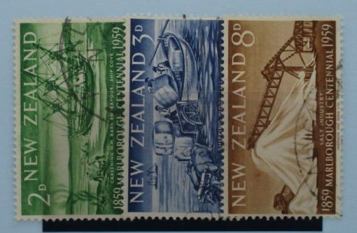 New Zealand Stamps, 1959, SG772-774, Used 3