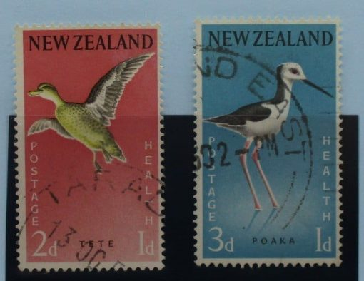 New Zealand Stamps, 1959, SG776-777, Used 3