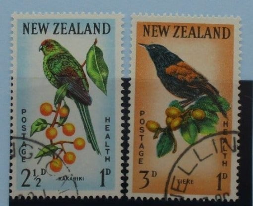 New Zealand Stamps, 1962, SG812-813, Used 3