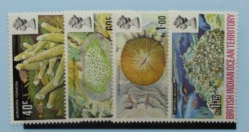 British Indian Ocean Territory Stamps, 1972, SG41-44, Mint 3
