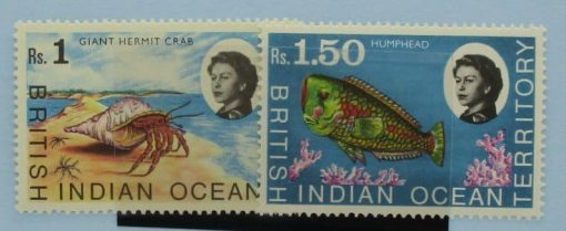 British Indian Ocean Territory Stamps, 1968, SG25-26, Mint 3