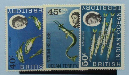 British Indian Ocean Territory Stamps, 1968, SG21-23, Mint 3
