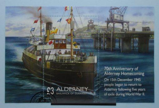 Alderney Stamps, 2015, MSA566, Used 3