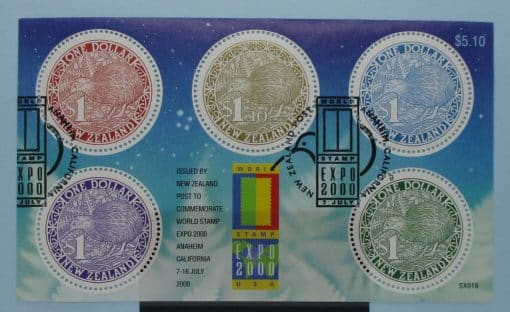 New Zealand Stamps, 2000, MS2342, Used 3