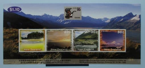 New Zealand Stamps, 1996, MS1998, Mint 3