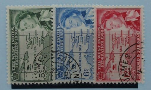 Trinidad and Tobago Stamps, 1958, SG281-283, Used 2