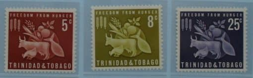 Trinidad and Tobago Stamps, 1963, SG305-307, Mint 3