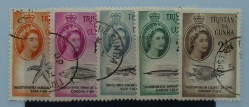 Tristan da Cunha Stamps, 1960, SG28-32, Used 3