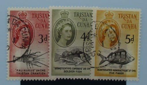 Tristan da Cunha Stamps, 1960, SG33-35, Used 3