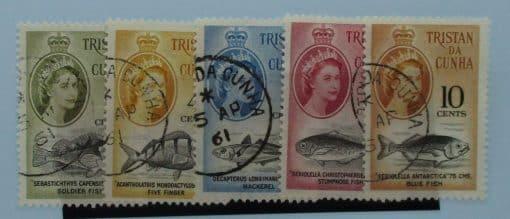 Tristan da Cunha Stamps, 1961, SG47-51, Used 3