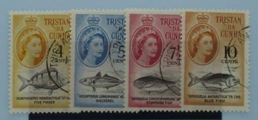 Tristan da Cunha Stamps, 1961, SG48-51, Used 3