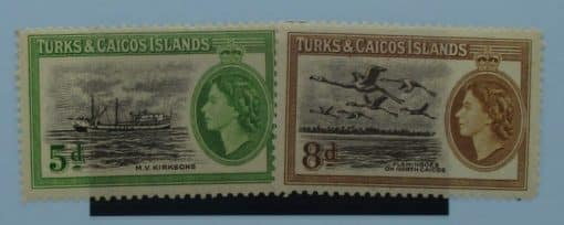 Turks and Caicos Islands Stamps, 1955, SG235-236, Mint 2