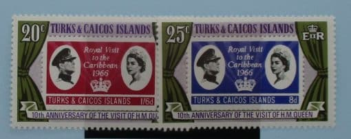 Turks and Caicos Islands Stamps, 1966, SG266-267, Mint 3
