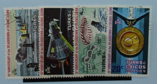 Turks and Caicos Islands Stamps, 1972, SG361-364, Used 3
