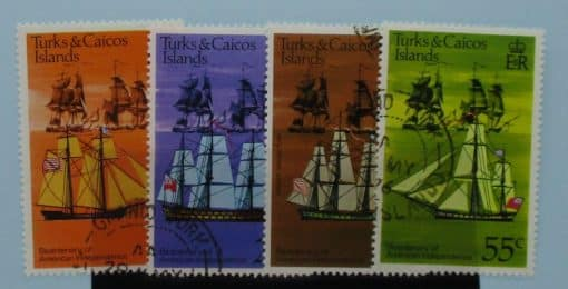 Turks and Caicos Islands Stamps, 1976, SG446-449, Used 3