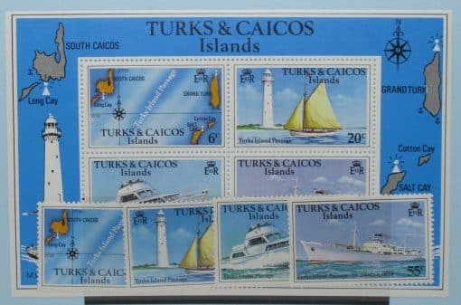 Turks and Caicos Islands Stamps, 1978, SG489A-492A, MS493, Mint 3