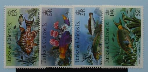 Turks and Caicos Islands Stamps, 1979, SG524A-527A, Mint 3
