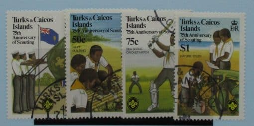 Turks and Caicos Islands Stamps, 1982, SG690-693, Used 3
