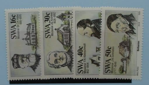 South West Africa Stamps, 1989, SG503-506, Mint 3