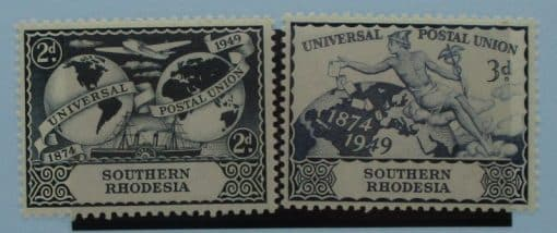 Southern Rhodesia Stamps, 1949, SG68-69, Mint 3